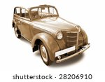old vintage car isolated on... | Shutterstock . vector #28206910