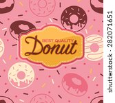 donut poster with seamless... | Shutterstock .eps vector #282071651