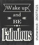 retro motivational poster ... | Shutterstock .eps vector #282073121
