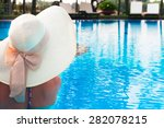 woman  with  white hat  from... | Shutterstock . vector #282078215