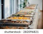catering food wedding  | Shutterstock . vector #282096821