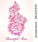 vintage floral highly detailed... | Shutterstock .eps vector #282101945