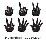 set of vector human hand ... | Shutterstock .eps vector #282102929