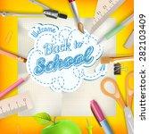 back to school   school...   Shutterstock .eps vector #282103409