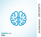 the human brain  web icon.... | Shutterstock .eps vector #282103475