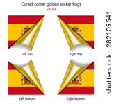 spanish flag curled golden... | Shutterstock .eps vector #282109541