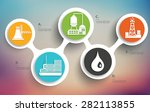 factory and industry design on... | Shutterstock .eps vector #282113855