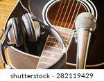 instrument guitar headphones... | Shutterstock . vector #282119429