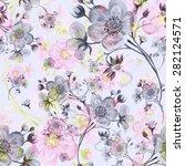 seamless pattern watercolor... | Shutterstock . vector #282124571