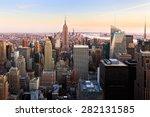 new york city sunset landmark   ... | Shutterstock . vector #282131585