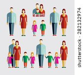 people flat icons. family flat...   Shutterstock .eps vector #282132974