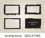 grunge frame.grunge background... | Shutterstock .eps vector #282137285