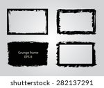 grunge frame.grunge background... | Shutterstock .eps vector #282137291