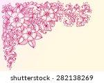 corner flower pattern for card. ...