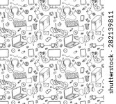 a vector seamless pattern of... | Shutterstock .eps vector #282139811