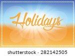 summer holidays beach background | Shutterstock .eps vector #282142505