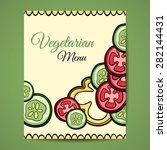 restaurant vegetarian menu card ... | Shutterstock .eps vector #282144431