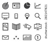 marketing icons. | Shutterstock .eps vector #282147821