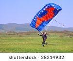 parachutist running after... | Shutterstock . vector #28214932