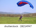 parachutist landed on a field... | Shutterstock . vector #28214947