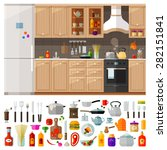 kitchen. set of elements  ... | Shutterstock .eps vector #282151841