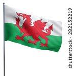 wales flag waving image... | Shutterstock . vector #282152219