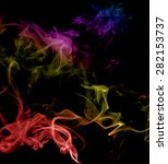 abstract multicolored smoke on... | Shutterstock . vector #282153737