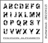 alphabet polygon. vector... | Shutterstock .eps vector #282154115