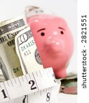 close up of money wrapped in... | Shutterstock . vector #2821551