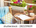beautiful terrace or balcony... | Shutterstock . vector #282159839