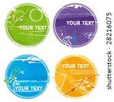grunge circles   vector | Shutterstock .eps vector #28216075
