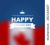 vector card for canada day.... | Shutterstock .eps vector #282163607