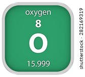 oxygen material on the periodic ... | Shutterstock . vector #282169319