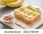 Toast Topped With Banana  Kiwi...