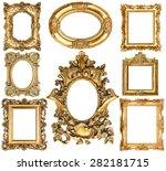golden frames isolated on white ... | Shutterstock . vector #282181715