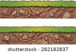 grass and dirt seamless ground. ... | Shutterstock .eps vector #282182837