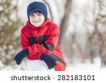 little cute boy having fun in... | Shutterstock . vector #282183101