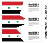 syria flag banners collection...   Shutterstock .eps vector #282186554