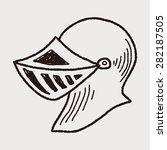 knight helmet doodle | Shutterstock .eps vector #282187505