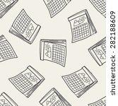 calendar doodle seamless...   Shutterstock .eps vector #282188609