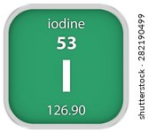 iodine material on the periodic ... | Shutterstock . vector #282190499