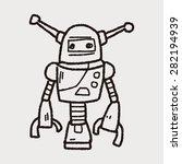 robot doodle | Shutterstock .eps vector #282194939