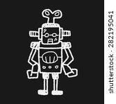 robot doodle | Shutterstock .eps vector #282195041