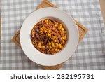 fresh made chili con carne | Shutterstock . vector #282195731