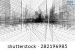 perspective 3d render of... | Shutterstock .eps vector #282196985