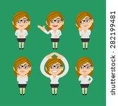 set of businesswoman | Shutterstock .eps vector #282199481