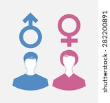 illustration male and female... | Shutterstock . vector #282200891