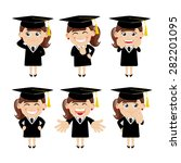 set of  graduate student... | Shutterstock .eps vector #282201095