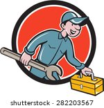 illustration of a mechanic... | Shutterstock .eps vector #282203567