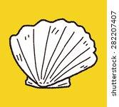 shell doodle | Shutterstock .eps vector #282207407
